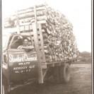La Standard Chemical Co. Ltd de Weedon devait charroyer le bois à ses fourneaux situés sur la 7e avenue où cette compagnie produisait du charbon de bois. Nous reconnaissons Alphée Bouchard qui conduisait ce camion de transport.