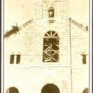 Après l'incendie du 10 juillet 1923, la paroisse décide de reconstruire l'église sur les mêmes terrains où la précédente avait été déménagée une dizaine d'années auparavant.