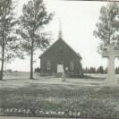 Voici une photographie de l'église de St-Gérard bâtie en 1906 lors de la création de cette paroisse. Cette église est devenue un sanctuaire très achalandé grâce à son curé l'abbé Roy et à son saint patron.