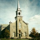 En 2000, voilà comment était transformée la devanture de l'église St-Janvier de Weedon.
