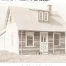 Le Shack à Baptiste. Voici la demeure de Jean-Baptiste Leblanc qui y vivait sans électricité et sans téléphone. Il y est décédé en 1967 à l'âge de 64 ans. Il était conseiller municipal.