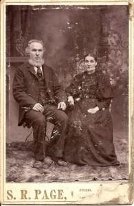 Couple Joseph Rousseau et Madeleine Dumas. Ils s'étaient mariés en 1862 à Ste-Agathe de Lotbinière. Ils étaient les parents de Gaudias Rousseau. Elle était la soeur de Jacob Dumas.