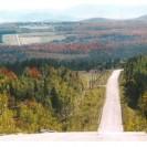 La partie sud de la route 257. À la hauteur du rang I de Weedon, nous pouvons admirer le paysage au loin vu de la route 257.